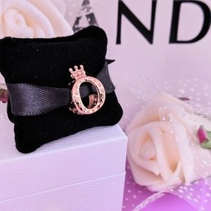 Authentic Pandora Rose Crown O Logo Charm